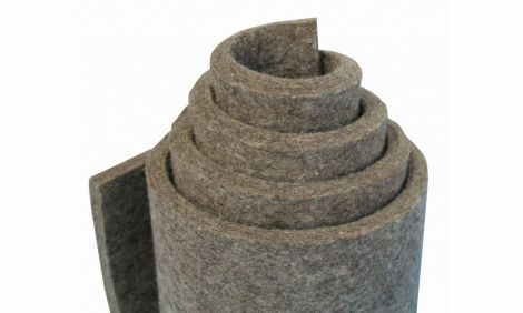 G100 - szary, średni filc (0,36 g/cm3), 100% wełna