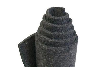 G80-szary, filc miękki (0,24 g/cm3), 80% wool/20% włókien sztucznych